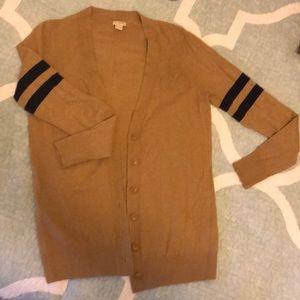 Long sleeve varsity cardigan sweater